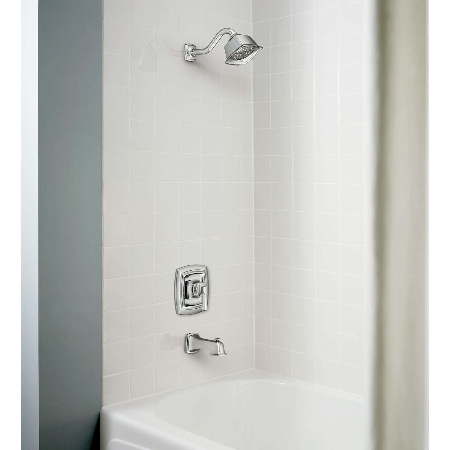 Moen  Boardwalk  One Handle  Tub and Shower Faucet  Chrome Finish Metal Material