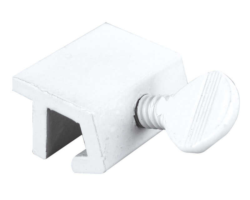 Prime-Line  Painted  White  Aluminum  Window Lock  2 pk