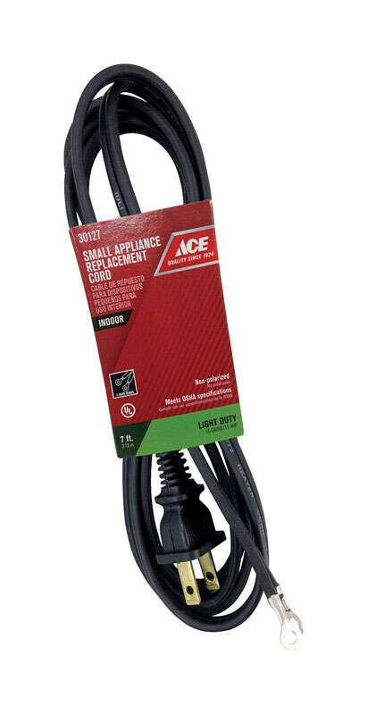 Ace  7 ft. L Small Appliance Replacement Cord  16/2 HPN