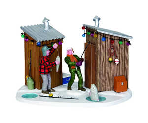 Lemax  Ice Fishing  Village Accessory  Multicolored  Resin  1 each
