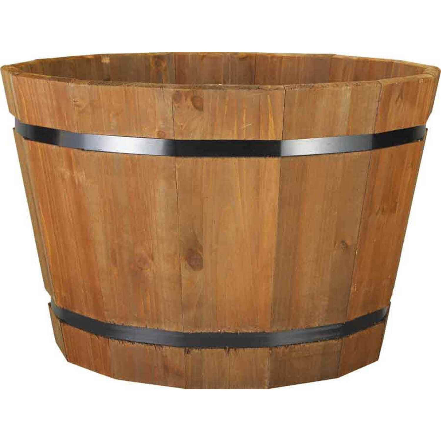Pennington  13.12 in. H x 20 in. W x 20 in. D Heartwood  Natural  Planter