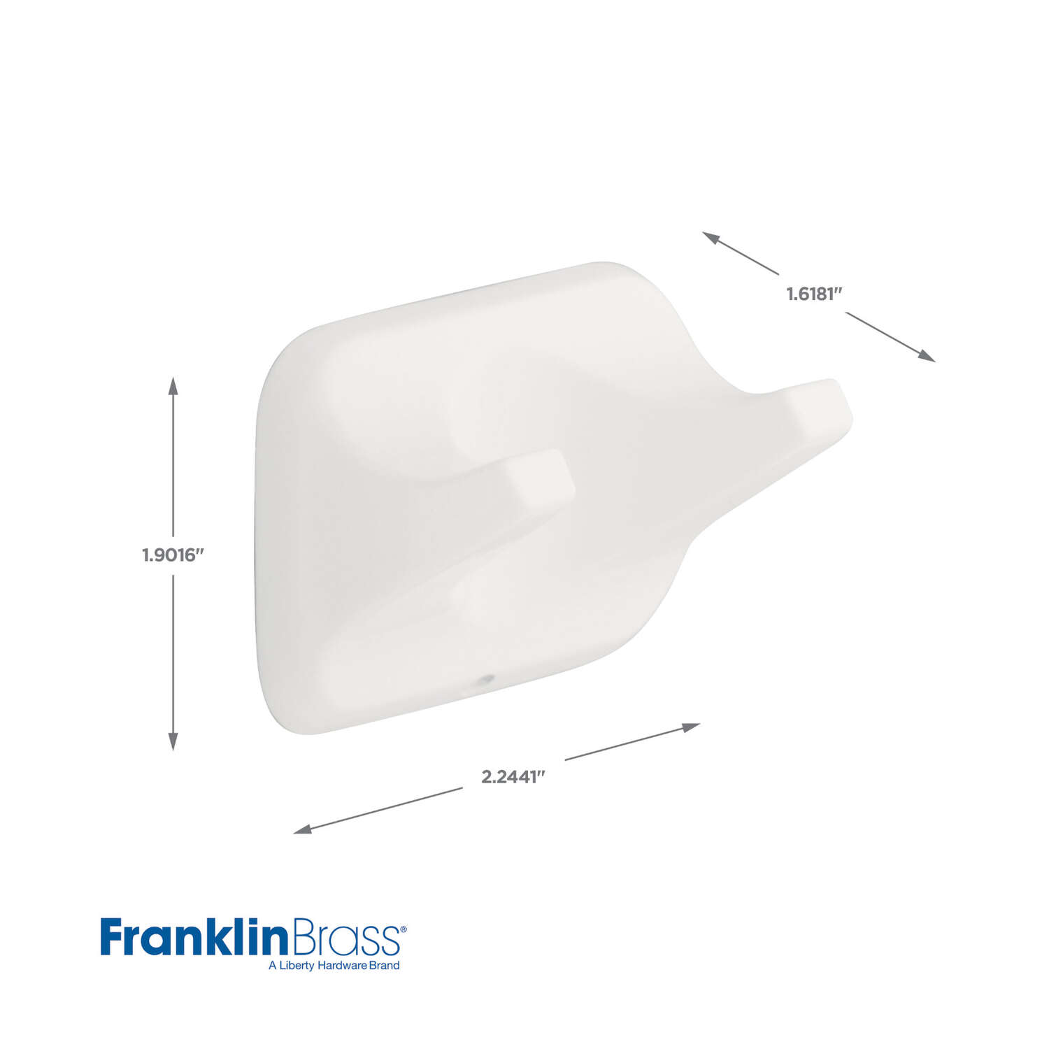 Franklin Brass  Futura  Robe Hook  2.24 in. L x 1.62 in. W x 1.9 in. H Die Cast Zinc  White