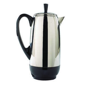 Farberware  Black/Silver  Percolator  12 cups