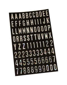 Hy-Ko  1 in. Vinyl  Silver  0-9, A-Z  Letters and Numbers  Self-Adhesive
