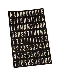 Hy-Ko  1 in. Silver  0-9, A-Z  Letters and Numbers  Self-Adhesive  Vinyl