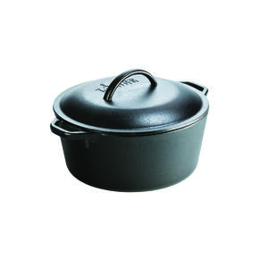 Lodge  Cast Iron  Dutch Oven  10 in. 5 qt. Black