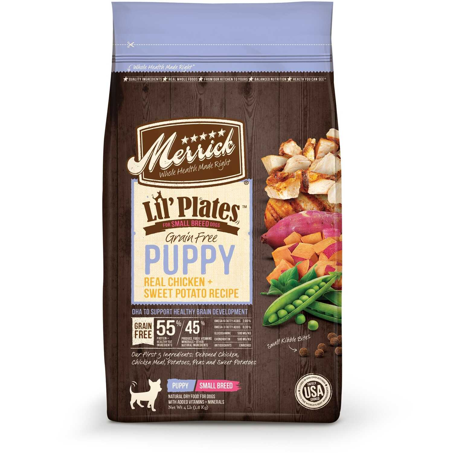 Merrick  Lil Plates  Chicken and Sweet Potato  Dry  Dog  Food  Grain Free 4 lb.