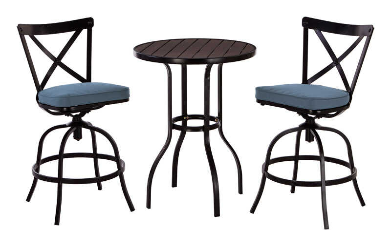 Living Accents  3 pc. Acadia  Powder Coated  Bistro Set