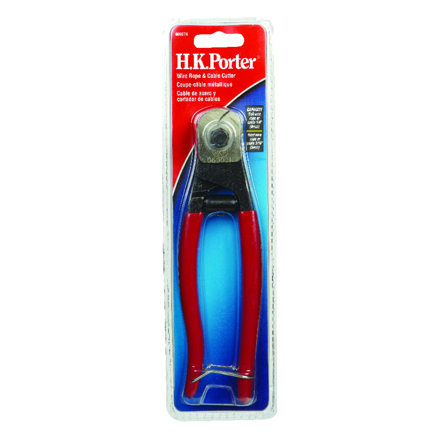 H.K. Porter  7-1/2 in. L Cable Cutter  3/16  Red