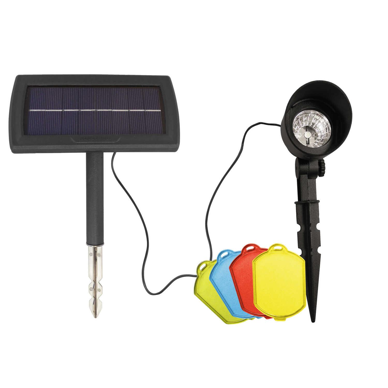 Gama Sonic Color Filter Spotlight Black Solar Powered Led