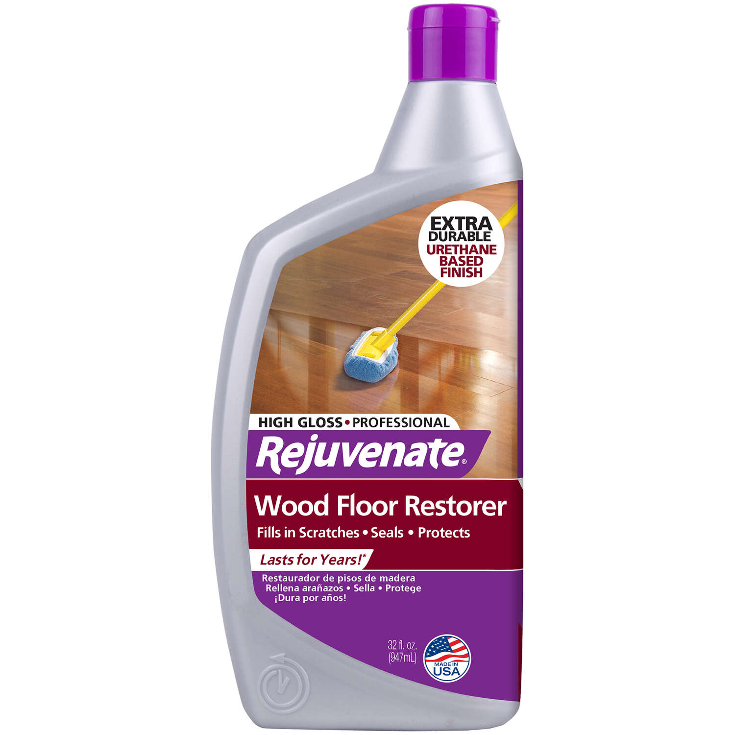 Rejuvenate High Gloss Wood Floor Restorer Liquid 32 oz.