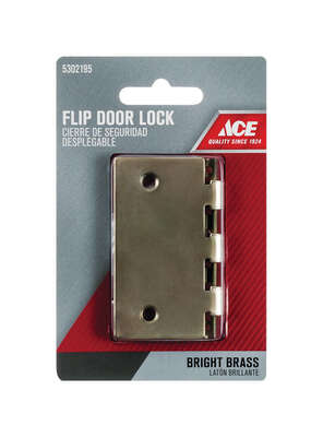 Ace  Bright Brass  Steel  Flip Lock  1 pk
