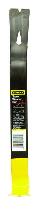 Stanley  Wonder Bar  15 in. L x 1-3/4 in. W Forged Steel  Pry Bar  Black  1 pc.