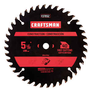 Craftsman  5-1/2 in. Dia. Carbide  3/8 in.  40 teeth 1 pk Circular Saw Blade