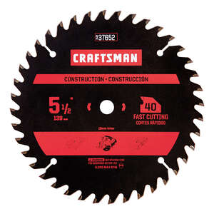 Craftsman  5-1/2 in.  Carbide  Circular Saw Blade  3/8 in.  40 teeth 1 pk