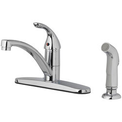 OakBrook Pacifica One Handle Chrome Kitchen Faucet Side Sprayer Included