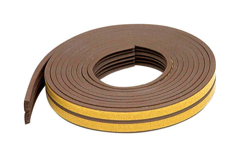 M-D Building Products  Brown  Rubber  Weather Stripping  For Door and Window 17 ft. L x 3/8 in.