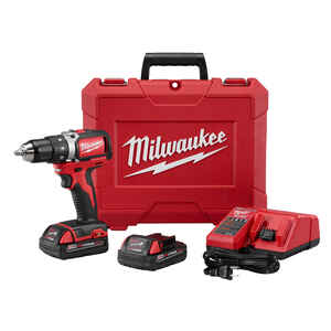 Milwaukee  M18  Cordless  Brushless 1 tool Compact  Drill and Driver Kit  18 volt 2 amps