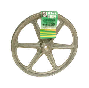 Dial  10 in. H x 10 in. W Zinc  Silver  Blower Pulley