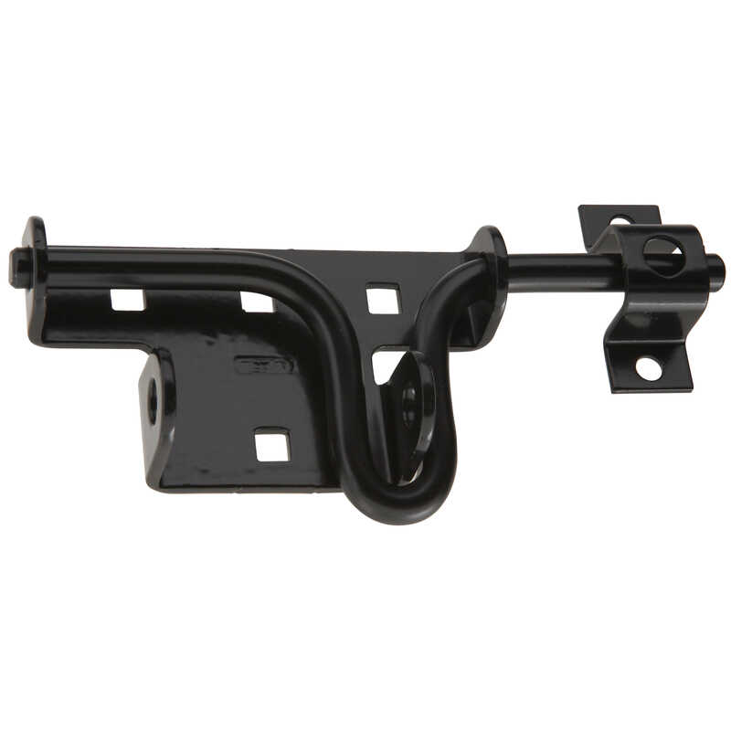 National Hardware  0.88 in. H x 7.38 in. W x 2.31 in. L Black  Steel  Sliding Bolt  Door/Gate Latch
