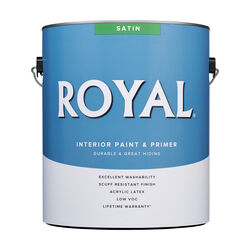 Royal Satin Tint Base Ultra White Base Paint Interior 1 gal.