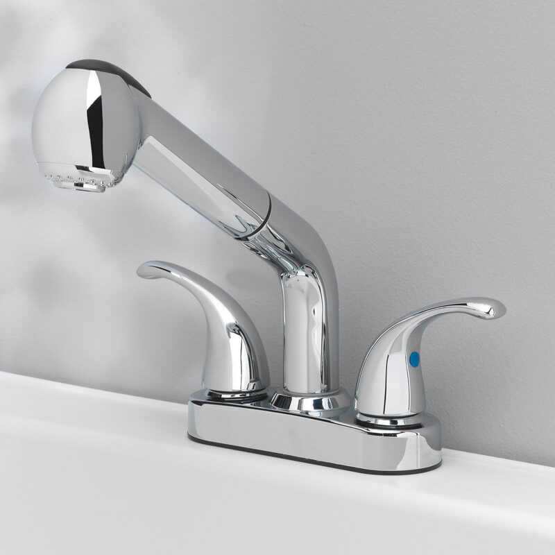 OakBrook  Essentials  Pull-Out Laundry  Two Handle  Chrome  Pull Out Kitchen Faucet