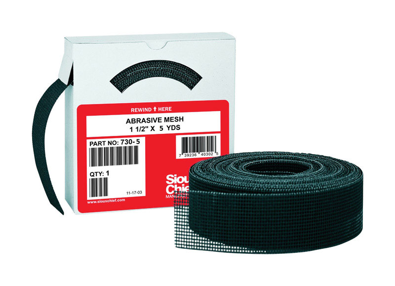 Sioux Chief  1-1/2 in. W x 5 yd. L Medium  Abrasive Mesh  Sandpaper  1 each 180 Grit