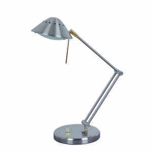 Living Accents  18.9 in. Brushed  Nickel  Desk Lamp
