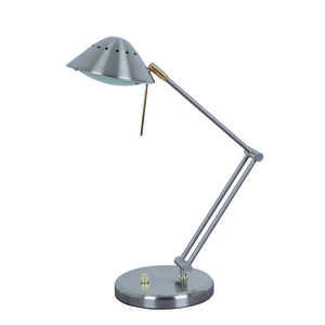 Living Accents  18.9 in. Brushed  Desk Lamp  Nickel