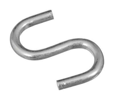 National Hardware  Zinc-Plated  Silver  Steel  1 in. L Open S-Hook  20 lb. 6 pk