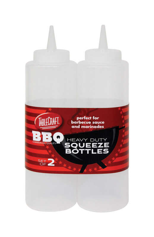Tablecraft  BBQ  Clear  Squeeze Bottles