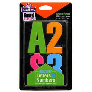 Elmer's  Board Mate  2.5 in. Paper  Numbers  Stencil  308 pc.