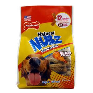 Nylabone  Nubz  Chicken  Dog  Chews  12 count