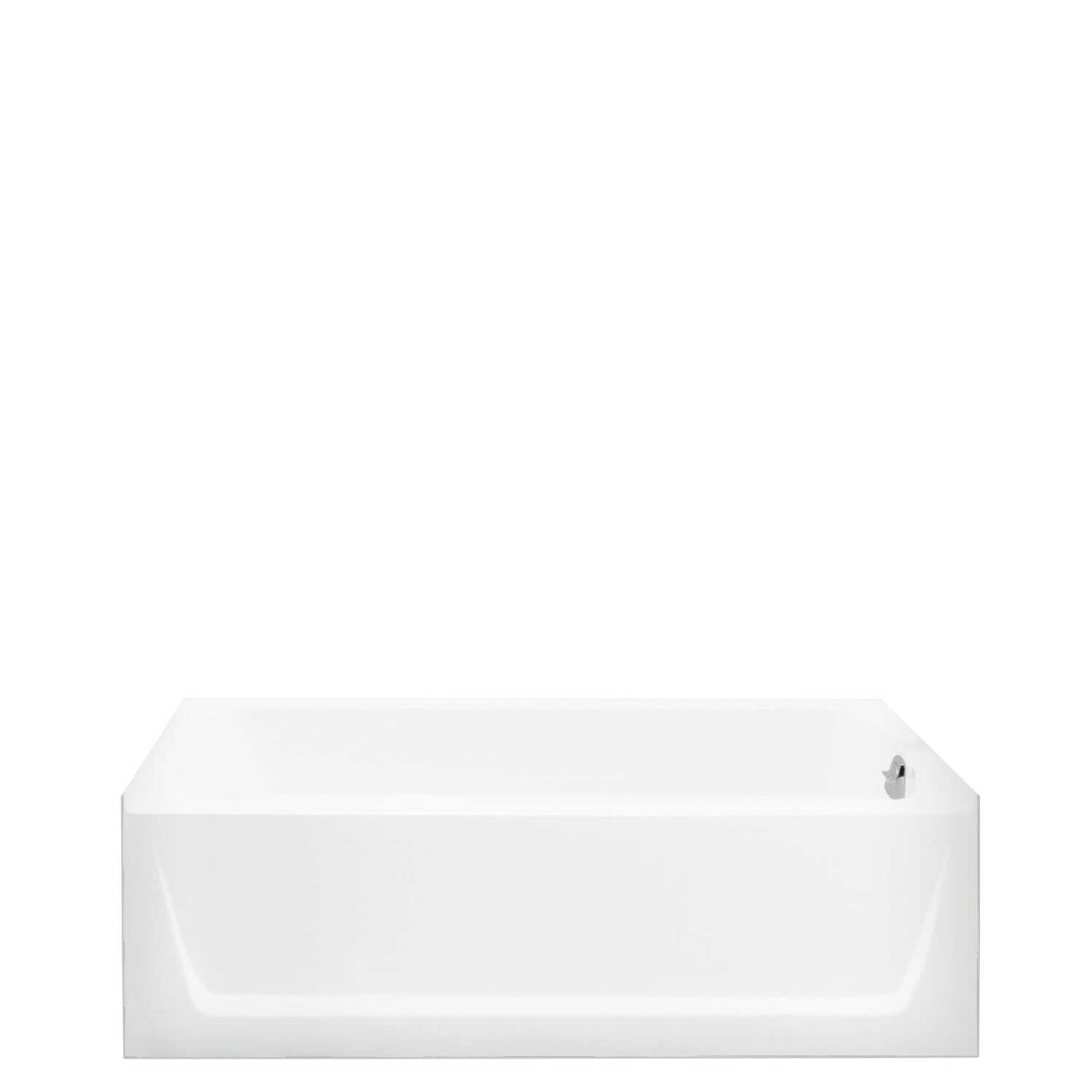 Sterling  Ensemble  18 in. H x 32.125 in. W x 60 in. L White  Bathtub  Plastic composite  Left Hand