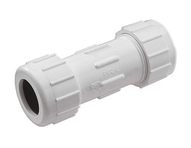 NDS  Schedule 40  1 in. Compression   x 1 in. Dia. Compression  PVC  Coupling