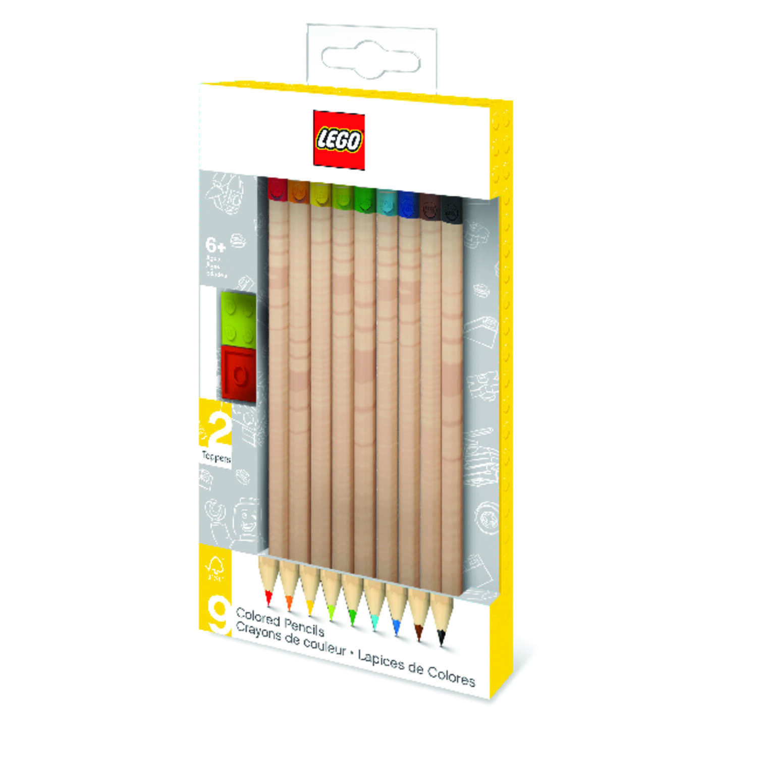 Lego Colored Pencil 9 pk