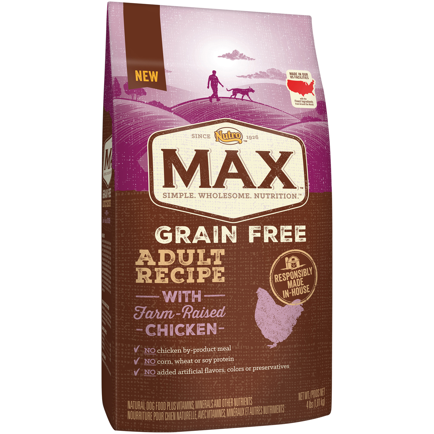 Nutro  Max  Chicken  Dog  Food  4  Grain Free