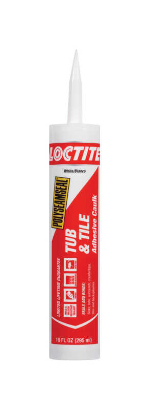 Loctite  Polyseamseal  White  Acrylic Latex  Adhesive Caulk  10 oz.