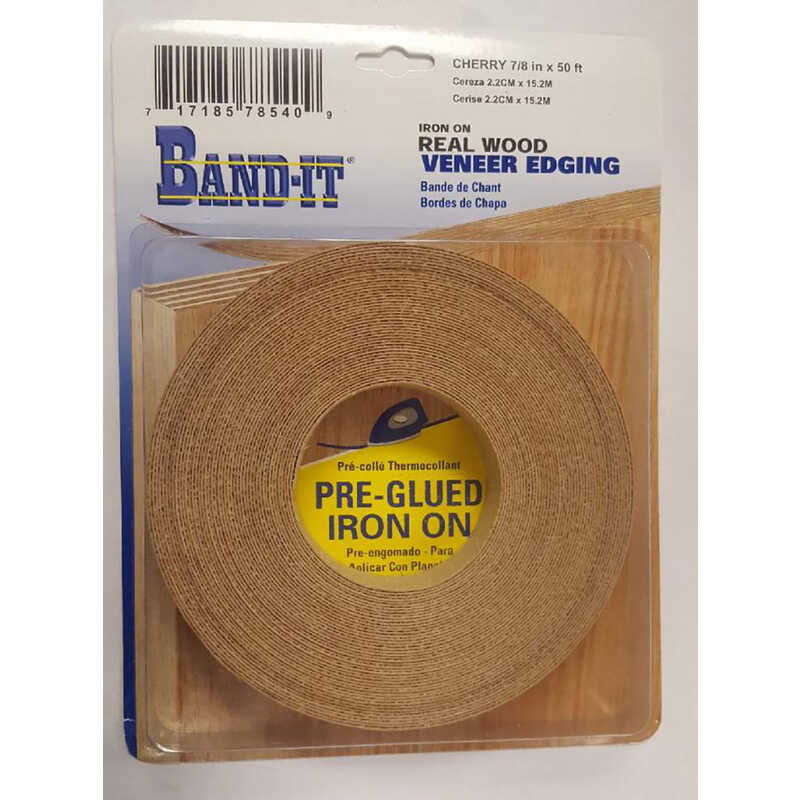 Band It  7/8 in. W x 50 ft. L x .030 in.  Cherry  Real Wood Veneer Edging