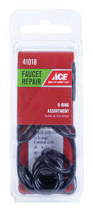 Ace  0.00 in. Dia. Rubber  O-Ring Assortment  14 pc.