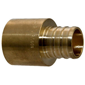 SharkBite  3/4 in. PEX   x 3/4 in. Dia. Crimp  Brass  Male Adapter