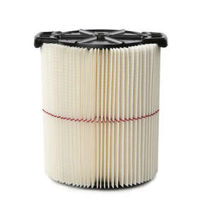 Craftsman  6.88  L x 6.88 in. W Wet/Dry Vac Filter  5+ gal. White  1 pk