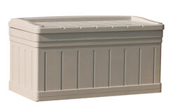 Suncast  Resin  27-9/16 in. H x 53 in. W x 29 in. D Light Taupe  Deck Box with Seat