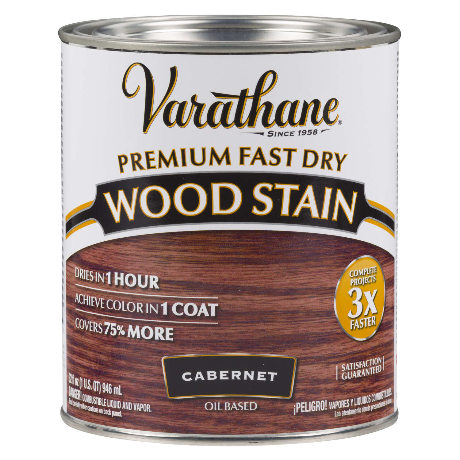 Varathane  Semi-Transparent  Cabernet  Oil-Based  Urethane Modified Alkyd  Wood Stain  1 qt.