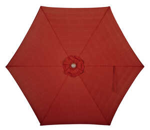 Quik Shade  LED  9 ft. Red/White  Patio Umbrella