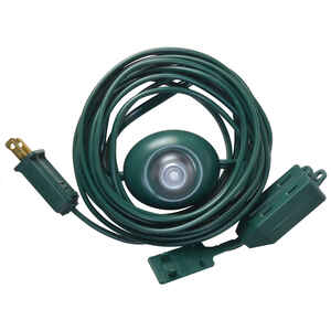 Woods  Indoor  15 ft. L Green  Extension Cord with Switch  16/2