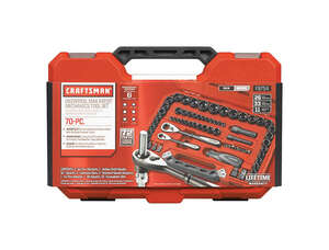 Craftsman  Universal Max Axess  3/8 in.  x 1/4, 3/8 and 1/2 in. drive  Metric and SAE  6 Point Mecha