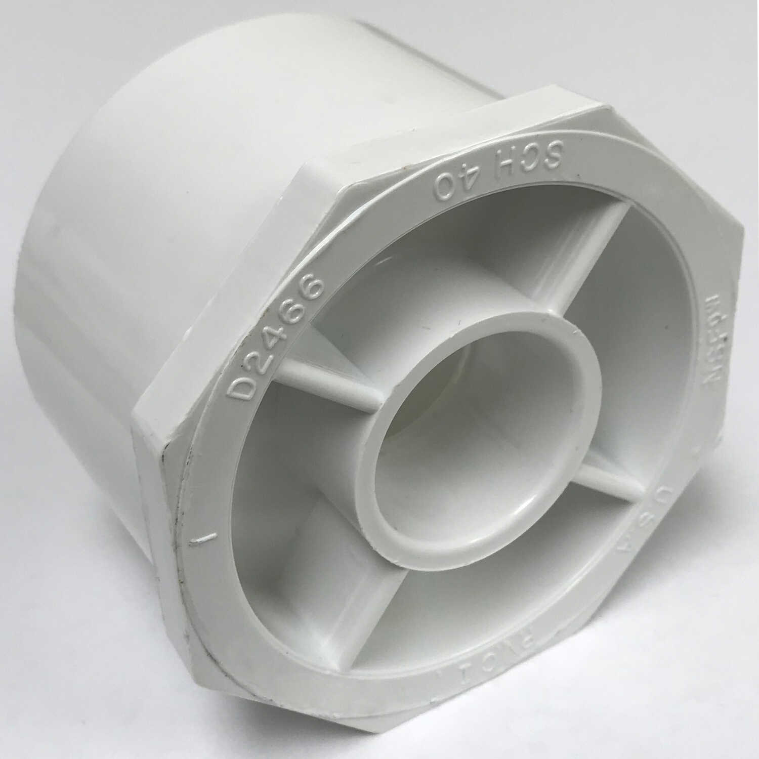 Charlotte Pipe  Schedule 40  2-1/2 in. Slip   x 1 in. Dia. Slip  PVC  Reducing Bushing
