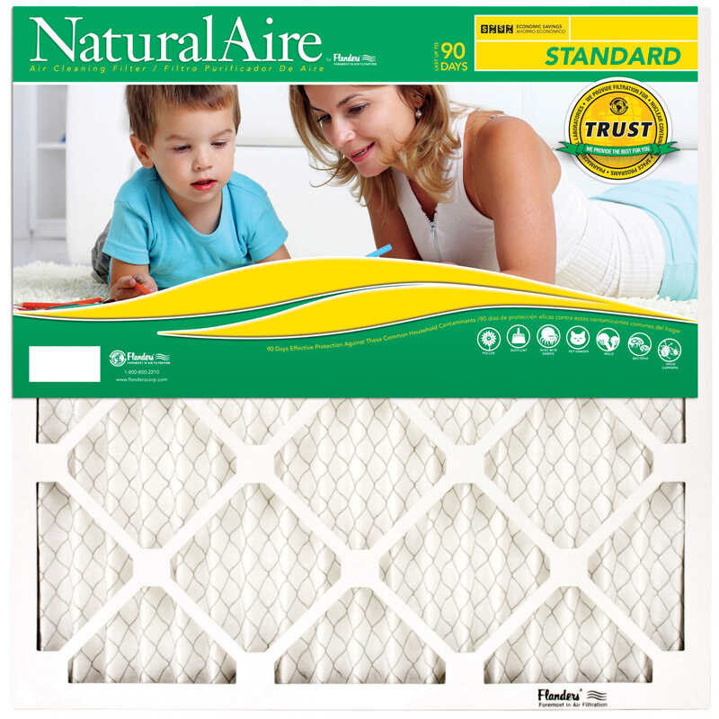 AAF Flanders  NaturalAire  32 in. H x 25 in. W x 1 in. D Pleated  Air Filter