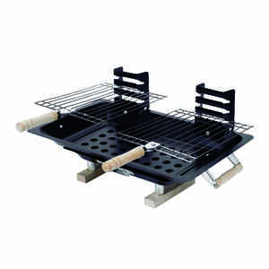 Marsh Allen  Hibachi  Charcoal  Grill  Table Top  Black